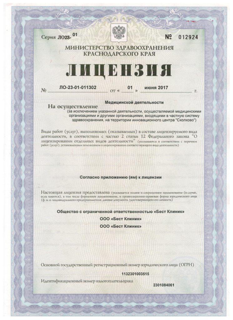 Лицензия от 01.06.17